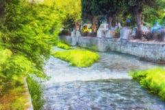 Yalta- urban landscape paint Royalty Free Stock Photos
