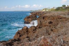 Southern coast of island of Haiti. La Romana, Dominican republic Royalty Free Stock Image