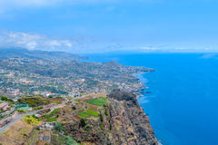 The southern coast of the island of Madeira. Funchal Royalty Free Stock Photography