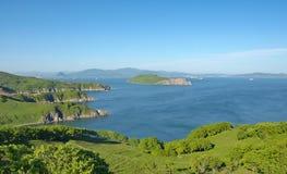 The southern coast of the Japan sea, Primorsky krai. Royalty Free Stock Photos