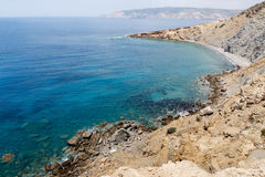 Southern coast and Mediterranean Sea in Rhodes Royalty Free Stock Image