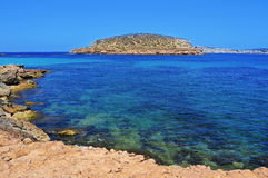 The Southern coast of Sant Antoni de Portmany, in Ibiza Island, Royalty Free Stock Image