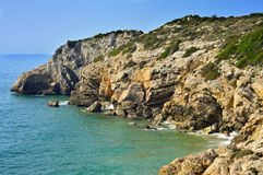 Southern coast of Sitges, Spain Stock Image