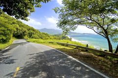 Southern coastal road, puerto rico Royalty Free Stock Image