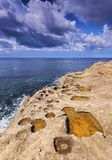 Southern Coastline of Minorca Stock Photography