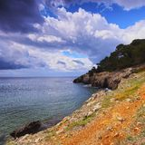 Southern Coastline of Minorca Stock Images