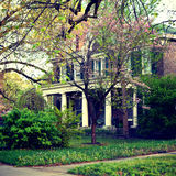 Southern Colonial Brick House stock images
