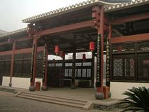 Hakka Ancestral Hall. In the southern countrye of Jiangxi, there are ancestral shrine in the village. The ancestral temple is a symbol of the ancient Stock Photography