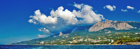 Southern Crimea. Black sea southern crimea kind on Aj-Petro stock photos