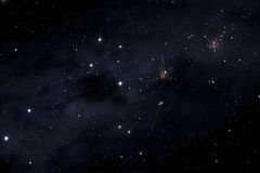 Southern cross and Musca constellations Royalty Free Stock Image