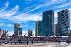 Southern Cross railway station and Melbourne cityscape Stock Photography