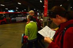 Southern Cross Station Bus terminal Stock Photos