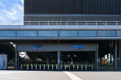 Southern Cross station entrance with pay gates and woman Stock Images