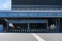 Southern Cross station entrance with pay, tall gates Royalty Free Stock Image