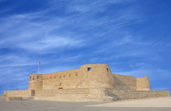 Southern and the eastern wall of Arad Fort. Arad Fort is a 15th century fort in Arad, Bahrain Stock Images