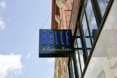 Belle A Southern Bistro, Memphis, Tennessee Royalty Free Stock Photography