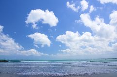 The southern end of Kuta Beach, Bali Royalty Free Stock Photography