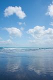 The southern end of Kuta Beach, Bali Royalty Free Stock Images