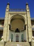 Southern facade of Vorontsov palace, Alupka, Crimea. Ukraine stock image
