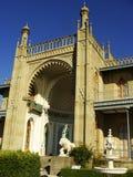 Southern facade of Vorontsov palace, Alupka, Crimea. Ukraine royalty free stock image