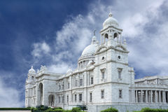 Southern facet of Victoria Memorial hall stock image