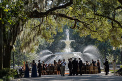 Southern festive reception in Savannah, GA Stock Photo