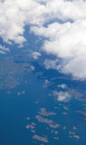Southern Finland from the air. South west coast Royalty Free Stock Photo