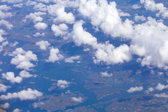 Southern Finland from the air Royalty Free Stock Photography
