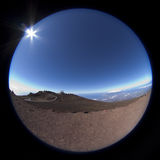 Southern fisheye view from the top of Haleakala Royalty Free Stock Photo