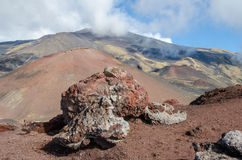 Southern flank of Mount Etna Royalty Free Stock Images