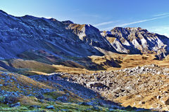 Southern flank of Troumouse circus in French Pyrenees Stock Image