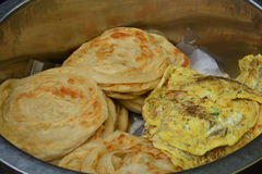 Southern flat bread. Parotta, south indian layered flatbread Stock Image