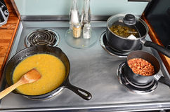 Southern Food on Stove Royalty Free Stock Photography