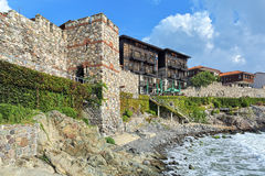 Southern Fortress Wall and Tower of the Old Town of Sozopol, Bulgaria Royalty Free Stock Images