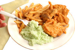 Southern fried chicken dinner stock image