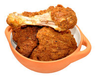 Southern Fried Chicken Portions Royalty Free Stock Photos