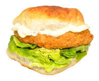 Southern Fried Chicken Sandwich Royalty Free Stock Photography
