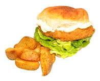 Southern Fried Chicken Sandwich Stock Photos