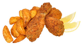 Southern Fried Chicken And Wedges Stock Image
