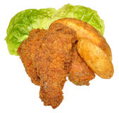 Southern Fried Chicken Wings Stock Photo