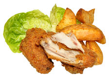 Southern Fried Chicken Wings Royalty Free Stock Photo