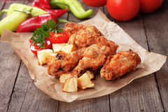 Southern fried chicken wings Stock Image