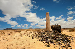 Southern Fuerteventura, Jandia, view along the Barranco de Vinamar Stock Image