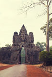 Southern gate to Angkor Thom, Cambodia Royalty Free Stock Image