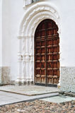 Southern gates of St. Sophia Cathedral in Veliky Novgorod Stock Images