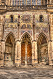 Southern gates of St.Vitus cathedral in Prague, Czech Republic. Royalty Free Stock Photo