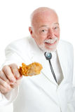 Southern Gentleman With Fried Chicken Drumstick Royalty Free Stock Photography