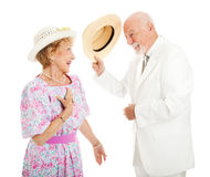 Southern Chivalry - Senior Couple Stock Photos