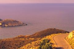 Greek coastline on Peloponnese, Mani Peninsula Royalty Free Stock Images