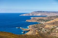 Greek coastline on Peloponnese, Mani Peninsula stock photo